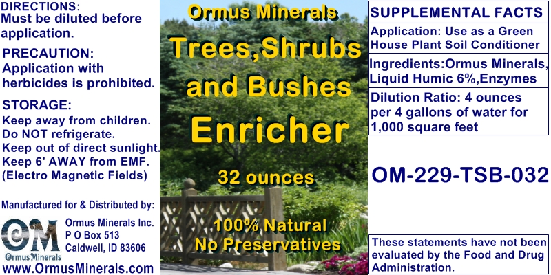Ormus Minerals - Trees, Shrubs, and Bushes Enricher (concentrate)